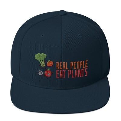 Real People Eat Plants Snapback Hat