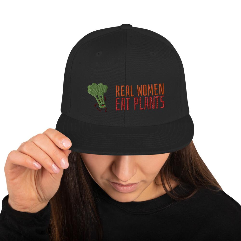 Real Women Eat Plants Broccoli Snapback Hat