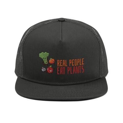 Real People Eat Plants All Veggies Mesh Back Snapback