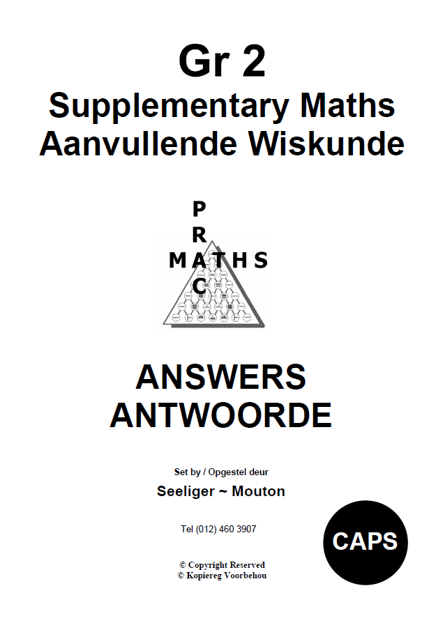 Gr 2 Supplementary Answers/ Antwoorde