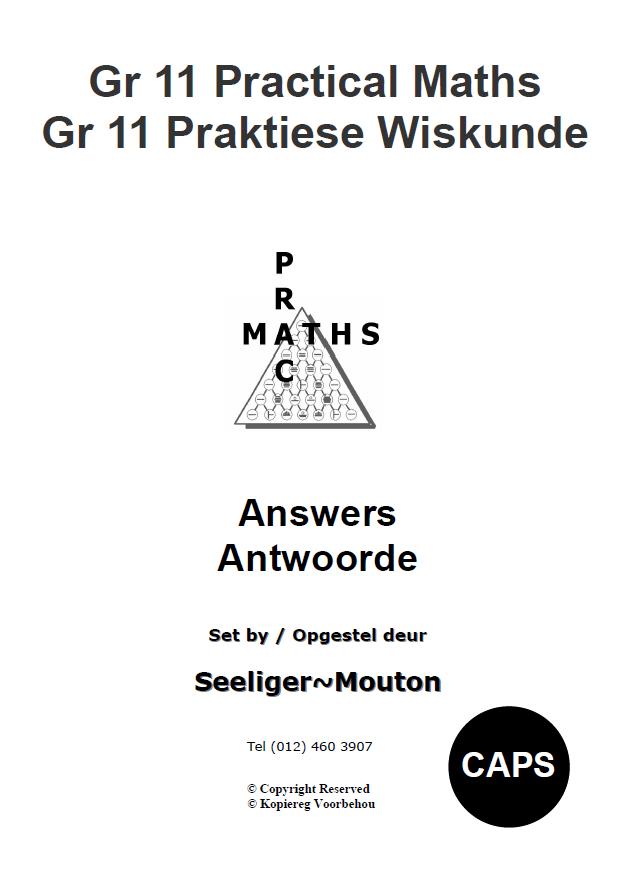 Gr 11 Prac Maths Answers/ Antwoorde
