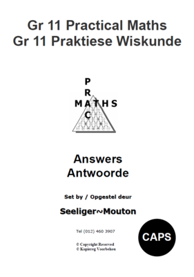 Gr 11 Prac Maths Answers/ Antwoorde