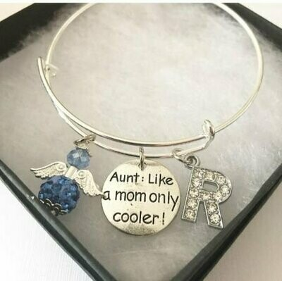 Cool Aunt Angel And Charm Bangle