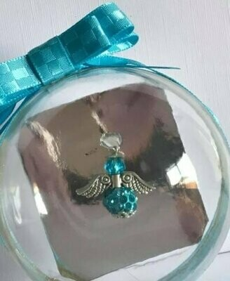 Matching Colour Angel And Ribbon Bauble