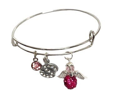 Personalised Angel Bangle