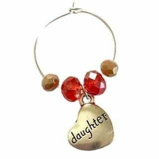 Family Wine Glass Charm