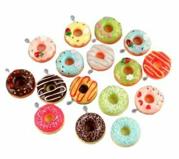 Donut Glass Stem Charm