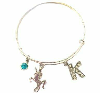 Personalised unicorn bangle