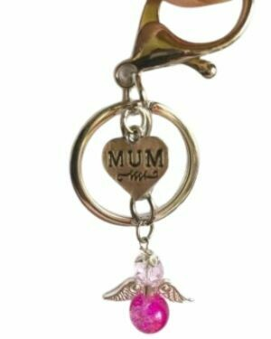 Any Charm With A Crystal Angel Keyring