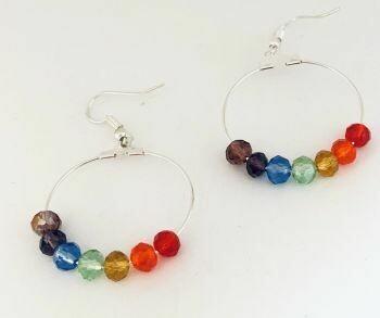 Chakra Hoop Earrings