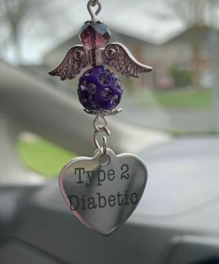 Type 2 Diabetic Car Angel Charm