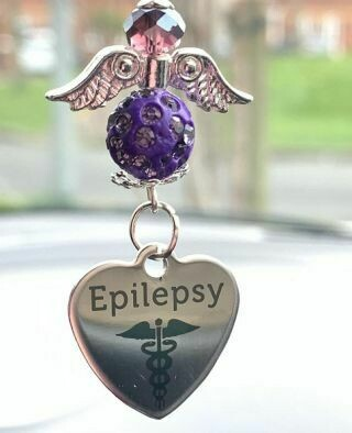 Epilepsy Car Angel Charm