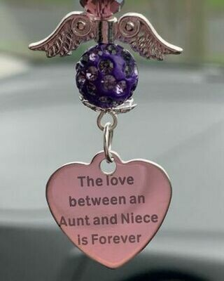 Aunt And Niece Car Angel Charm
