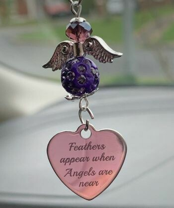 Feathers Appear Car Angel Charm