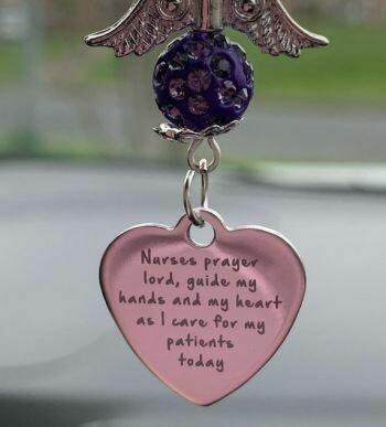 Nurses Prayer Car Angel Charm