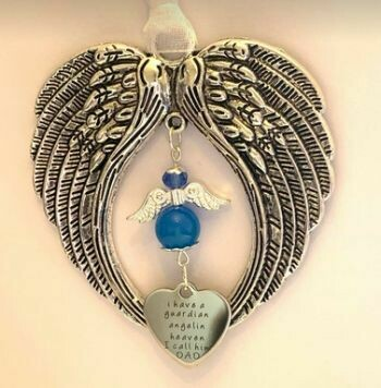 Dad Guardian Angel Wind Chime Angel And Wings