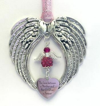 Mother And Children Love Wind Chime Angel And Wings