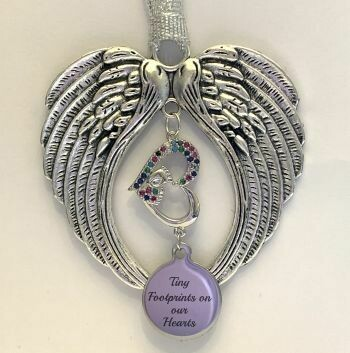 Tiny Footprints Wind Chime Angel Wings