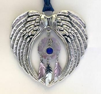 Dreamcatcher And Feathers Wind Chime Angel And Wings