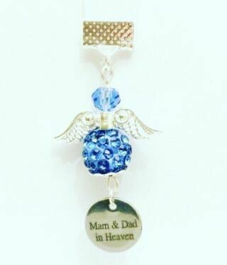 Something Blue Mam And Dad Sadly Missed Angel Charm