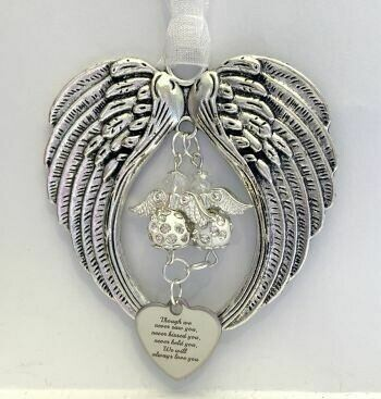 Double Angel We Will Always Love You Wind Chime
