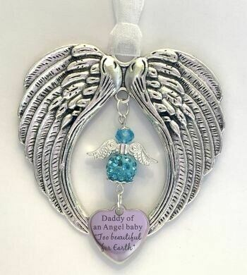 Daddy Of An Angel Baby Wind Chime Angel And Wings