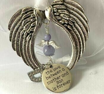 Mother And Son Guardian Angel Wind Chimes