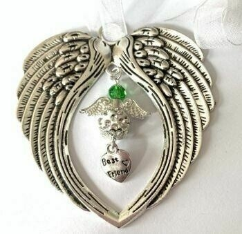 Best Friend Angel Wind Chime Angel And Wings