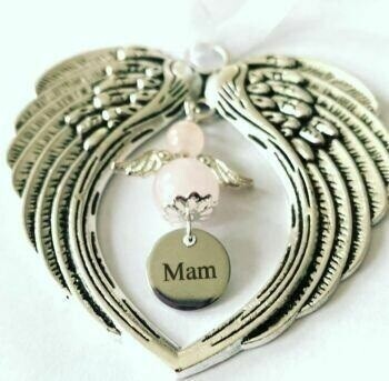 Mam Guardian Angel Wind Chime Angel And Wings