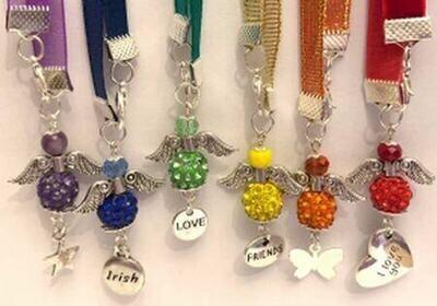 Pride Coloured Crystal Beaded Angel