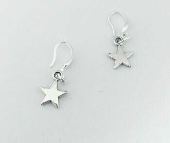 Sterling Silver Hooks With Charms Earrings