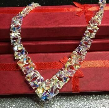Clear Crystals Graduated Necklace