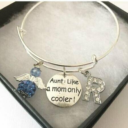 Cool Aunt Angel And Charm Bangle