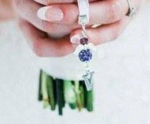 Bridal Bouquet Crystal personalised Angel