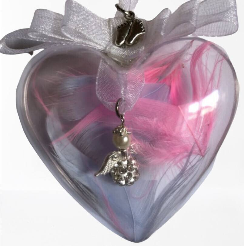 Angel In A Bauble with tiny feet charm