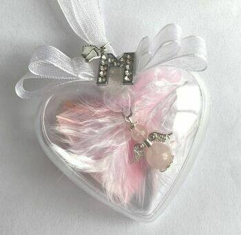 Personalised Angel In A Bauble With Feet Charm