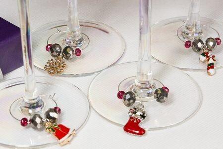 Christmas Wine Glass Charm