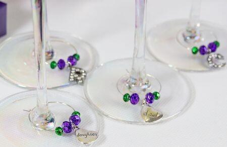 Family Wine Glass Charm