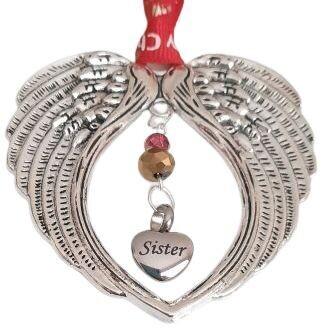 Sister Ash Locket Christmas Angel Wing Chimes