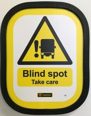 Blind Spot Sign Half Vertical