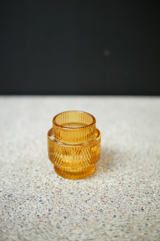 Teelicht Kurz | Ethno Yellow