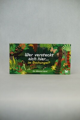 Wer versteckt sich hier im Dschungel | Spielkarten