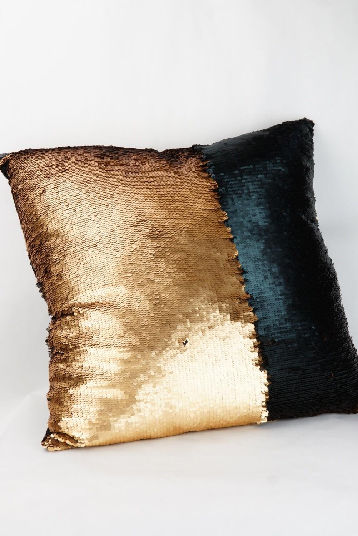 Kissen   Gold Schwarz