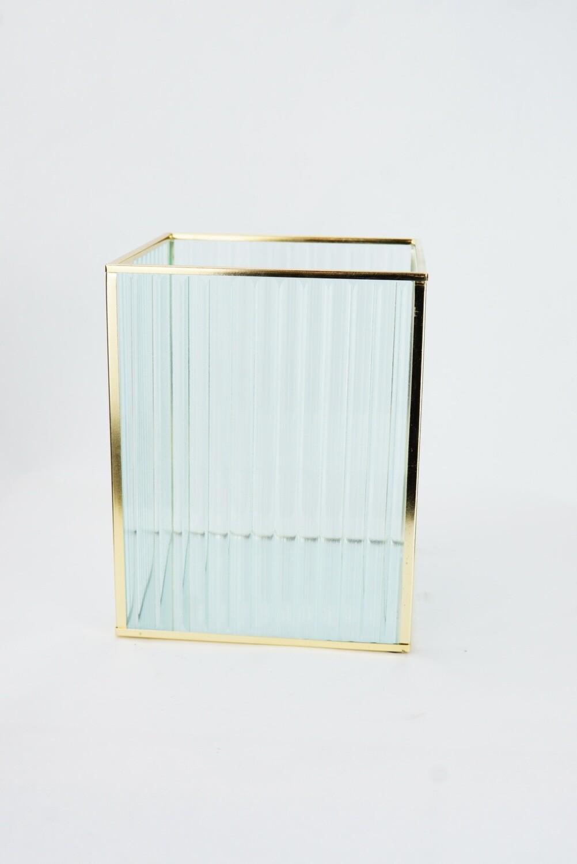 Glas | Goldrahmen | Groß