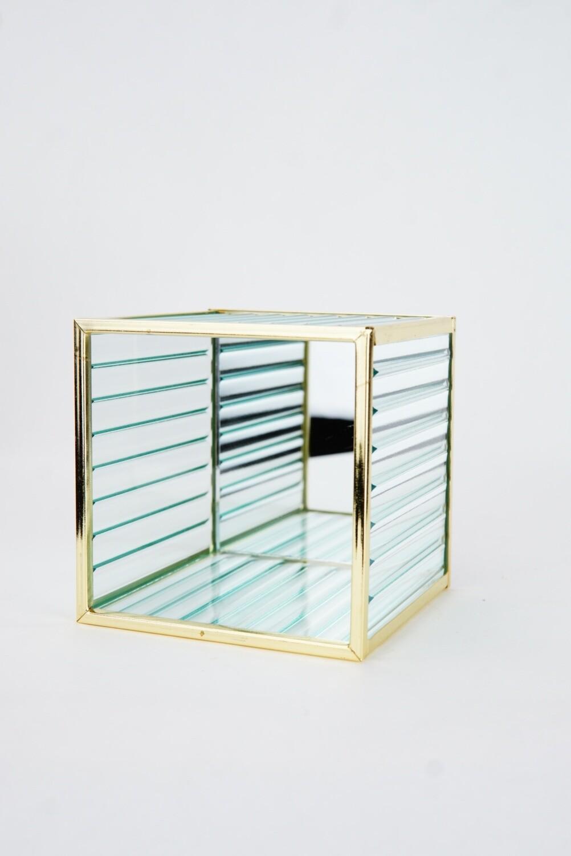 Glas | Goldrahmen | Klein