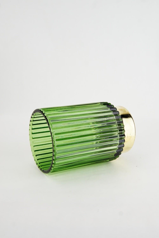 Glas   Goldrand   Grün