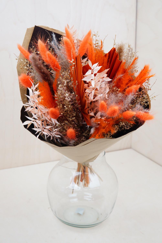 Trockenblumen-Strauß | Orange