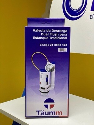 Válvula de descarga dual flush para estanque tradicional