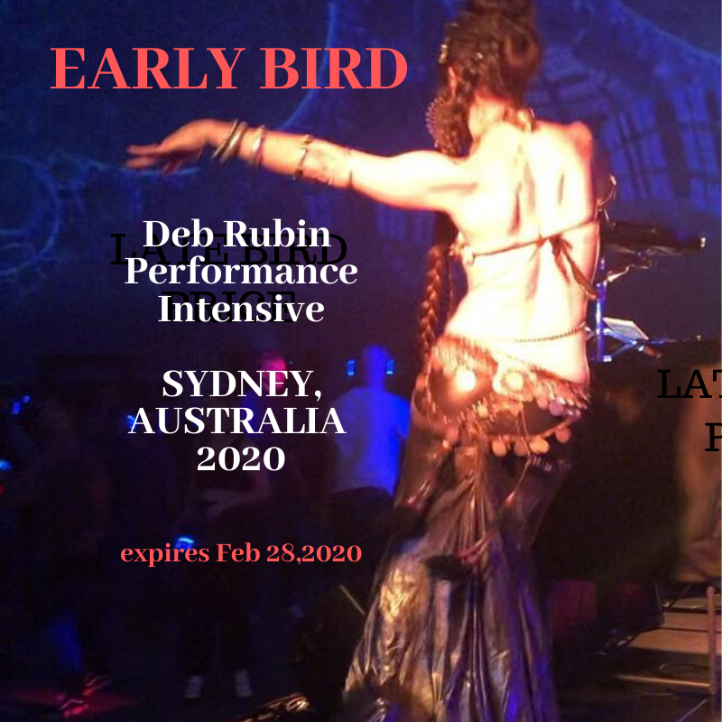 AUSTRALIA 2020:  Deb Rubin Performance Intensive April 25-6, Sydney. EARLY BIRD