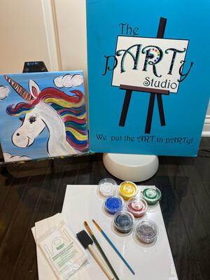 "Kids ""Unicorn Beauty"" 12x12 Canvas & Paint"